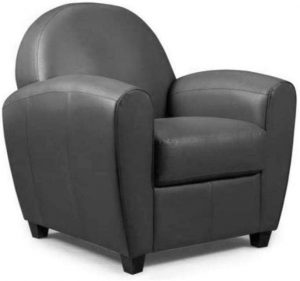 INSIDE Fauteuil Club BUFALLO Gris Anthracite