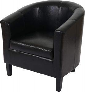 Fauteuil Newport T379, Fauteuil de Salon/Club, Similicuir ~ Noir