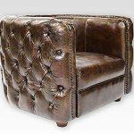 Phoenixarts 462 Fauteuil Club Chesterfield Vintage en Cuir