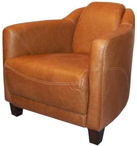 Le drugstore modern Fauteuil Club Cigare Cuir Camel