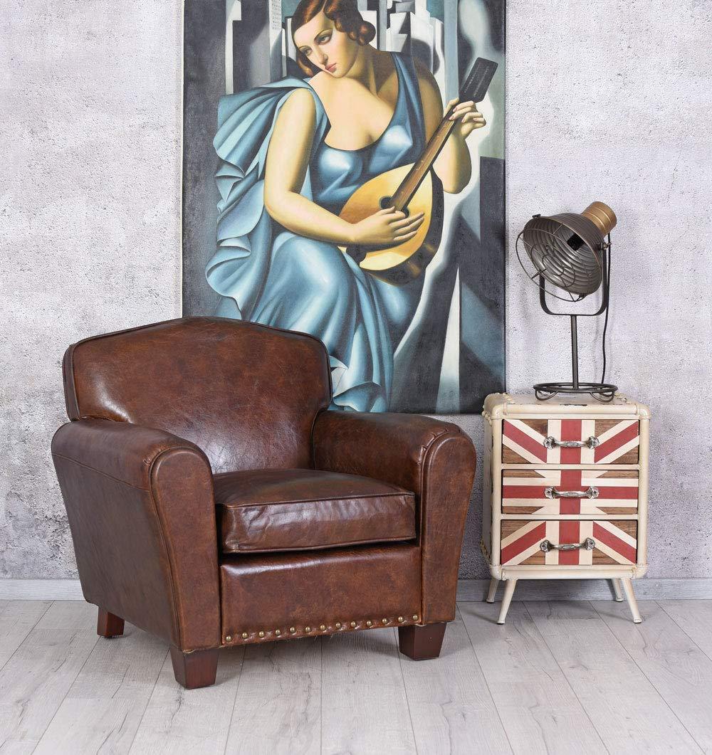 Exclusif Anglais Fauteuil Club art déco en cuir Palazzo